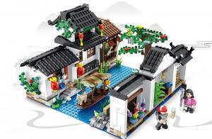 Chinesische Architektur - Dorf am Fluss