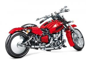 Motorcycle in red