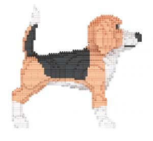Beagle, Hund (Diamond Blocks)