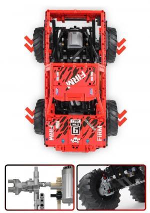 Geländewagen in rot