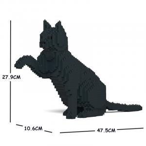 Katze  schwarz + gibt Pfötchen