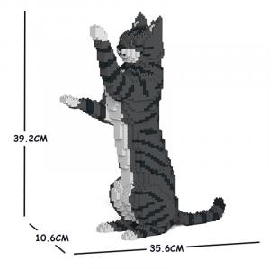 Katze stehend + grau