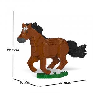 Pferd  braun + galoppierend