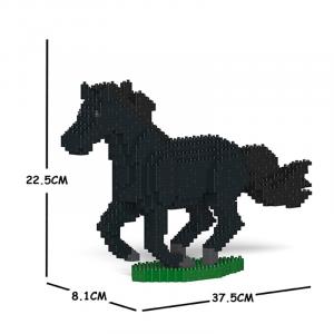 Pferd black + galoppierend