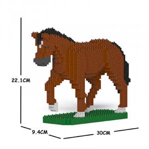 Pferd braun + laufend