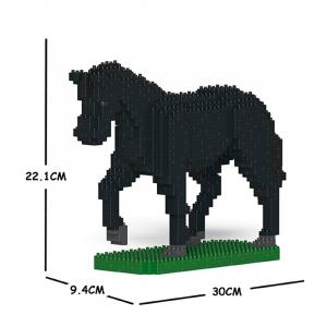 Pferd schwarz + laufend