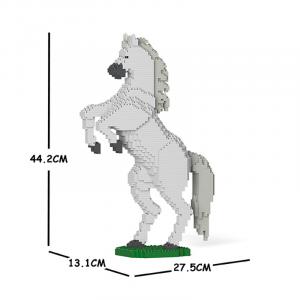Pferd weiß + steigend