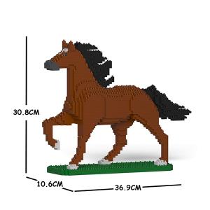 Pferd braun + trabend