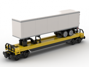 Intermodal Flat Car with Semitrailer