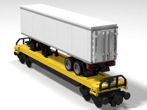 Intermodaler Flachwagen mit Sattelauflieger
