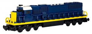 Locomotive EMD SD50, blue