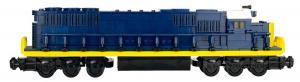 Locomotive EMD SD50, blue
