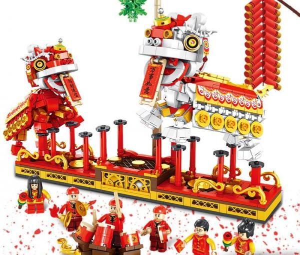 Chinesischer Neujahrs-Löwentanz