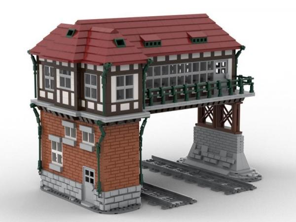 Gantry Signal Box, double track