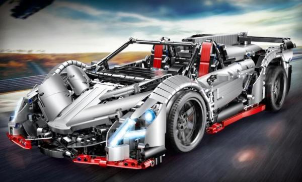 Ferngesteuerter Sportwagen in grau