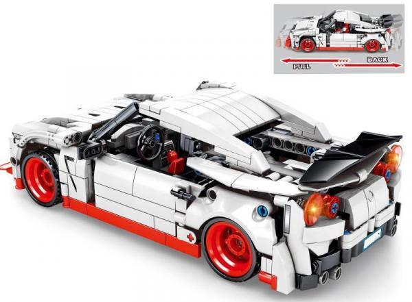Speedcar in white/red