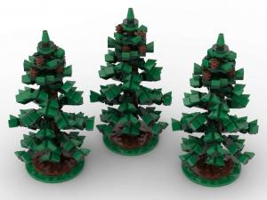 Fir trees, set of 3