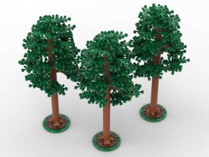 Pine trees, set of 3