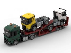 Truck with two tractors