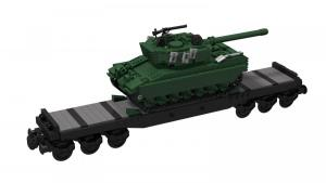 Low-Loader Wagon with Leopard 2