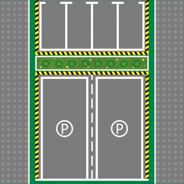 Grundplatte Straße 32x32, Parkplatz