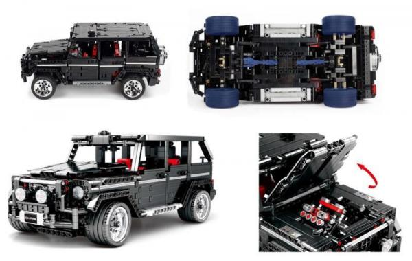 Technic black off-road vehicle