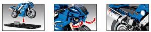 Motorcycle in blue