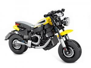 Motorrad in schwarz/gelb