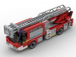 Low-floor fire brigade ladder truck