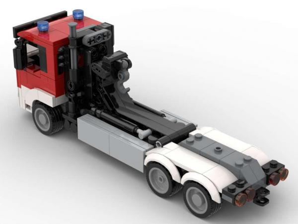 Fire brigade truck exchangeable loader 2in1 emergency vehicle