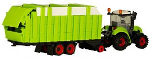 Tractor with multifunctional trailer