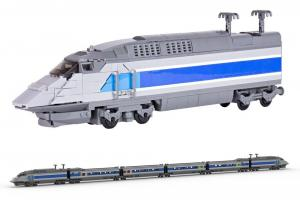 Express Train grey blue
