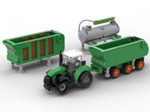 Tractor with 3 trailers