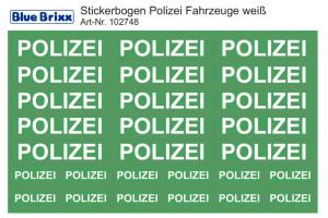 Sticker sheet for german Policecars