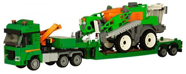 AMAZONE Low loader with field sprayer
