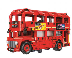 Double-Decker Bus in red