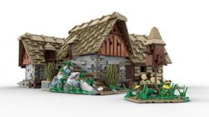 Mittelalterliches Dorf: Wassermühle