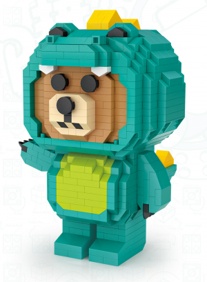 Bear in crocodile costume  (Diamond Blocks)
