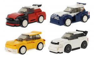 Set aus 4 Fahrzeugen, 4 in 1 Set