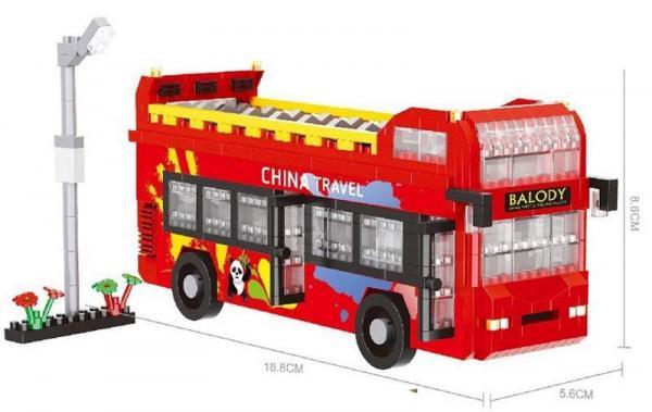 China-Reisebus (diamond blocks)