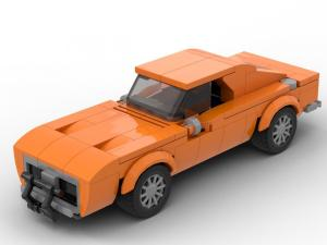 Kleines oranges US-Muscle-Car