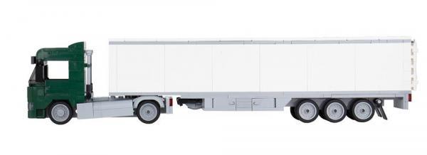 LKW Augsburg 2-Achs mit 3-Achs Koffer dunkelgrün