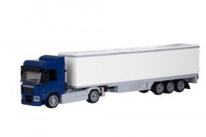 Truck Augsburg 2-axle with 3-axle suitcase dark blue
