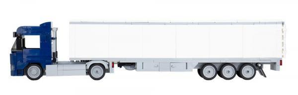 LKW Augsburg 2-Achs mit 3-Achs Koffer dunkelblau