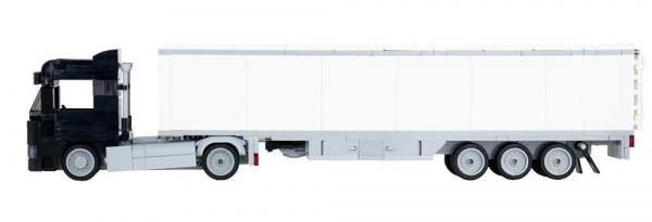 LKW Augsburg 2-Achs mit 3-Achs Koffer schwarz
