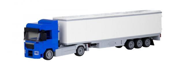 LKW Augsburg 2-Achs mit 3-Achs Koffer blau