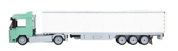 LKW Augsburg 2-Achs mit 3-Achs Koffer sandgrün