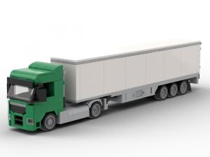 Truck Augsburg 2-axle with 3-axle suitcase green