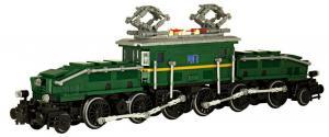 Legendary locomotive: Krokodil in green