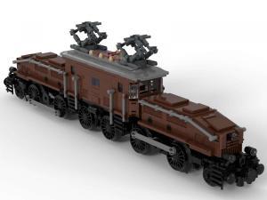 Legendary locomotive: Krokodil in brown